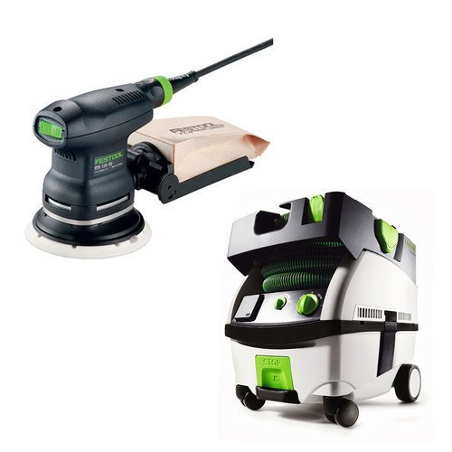 Festool PN571817 5 in. Random Orbital Finish Sander with CT MINI HEPA 2.6 Gallon Mobile Dust Extractor by Festool