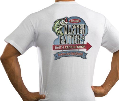 Big Dogs Men's Master Baiter T-Shirt White XL