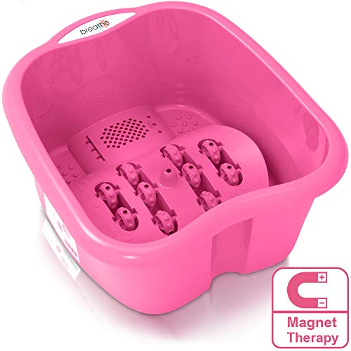 Breathe Foot Spa Massager with Magnetic Therapy in Home… (Pink)