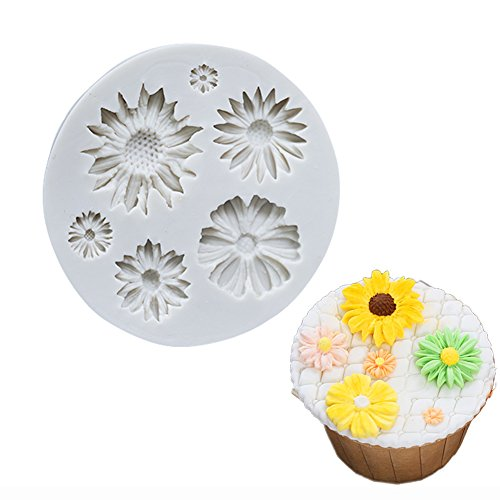 State Candy Mold (Sunflower Silicone Cookie Buiscuit Baking Molds Decorating Craft Mold)