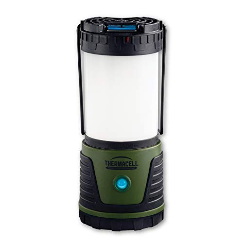 - Thermacell Trailblazer Mosquito Repellent LED Camping Lantern; 300 Lumens Provide 50-Hour Runtime; Creates 15-Foot Zone of Protection from Mosquitoes; DEET-Free and Flameless; Best Camping Gear