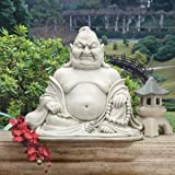 "18"" Laughing Asian Buddha Mediation Home Garden Statue Sculpture"