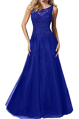 Brautmutterkleider mia Festlichkleider Royal Anmutig Blau La Langes Spitze Partykleider Abendkleider Braut Promkleider Blau Royal Mit 1xqWvRCw
