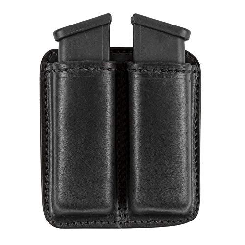 Relentless Tactical Leather Double Magazine Holder | Made in USA | Sizes to fit virtually Any 9mm.40 or .45 Caliber Pistol Mag | Single or Double Stack | IWB or OWB Mag Pouch (Best Magazines In Usa)