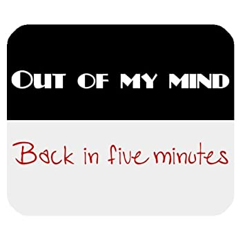 Out Of My Mind Back In Five Minutes Funny Quotes Rectangle Laptop
