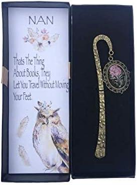 regalo per donne per sorelle argento Segnalibro in metallo a forma di gufo mamma regalo per nonna scuola insegnanti Sincerely For You regalo di Natale per donne,ricordo