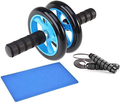 EPROSMIN Ab Wheel Workout Gear Ab Roller - 3 in 1 Fitness Equipment Set Ab Roller Resistance Bands Jump Rope Pull Rope - Ab Exercise Equipment Used as at Home Workout Equipment for Both Men & Women