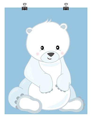 Polar Bear Arctic Animals Nursery Art Print - Multiple Sizes
