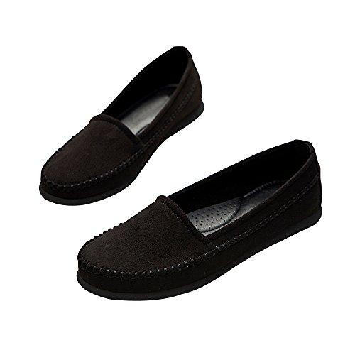 Ronda Planos Ocasionales Mujer CHENTA Negro Zapatos Ballerina E8Bp46q