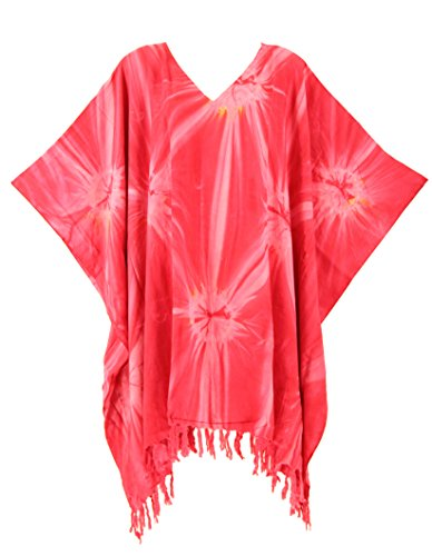 pie Tie Dye Tunic Blouse Kaftan Top 3X (Hippie Tunic Blouse)