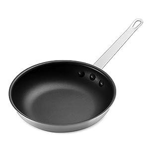 Economy Non-Stick Aluminum Fry Pan, with Slotted Spatula, Nylon, Heat Resistant
