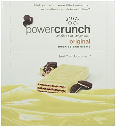 Puissance Crunch High Protein Energy Snack, Cookies & Creme, Bars 1,4 onces (Pack de 12)