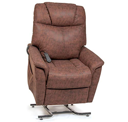 - Golden Technologies The Siesta Dual Motor Lift Chair Infinite Position Recliner PR445 - Powered Headrest and Lumbar - Hickory Fabric