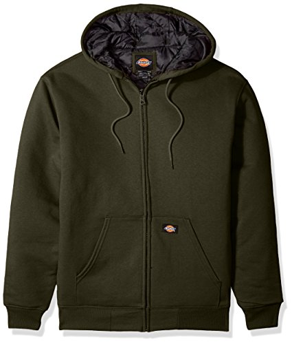 Dickies Men's Heavyweight Quilted Fleece, Tactical Green, - Dickies Cotton Sweatshirt