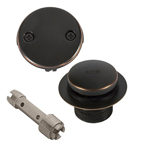Bennington Toe Touch Bathtub Tub Drain Overflow Conversion with Removal Tool, Oil Rubbed Bronze by Bennington