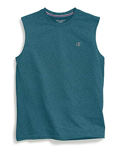 Champion Men's Double Dry Heather Muscle Tee, Jeweled Jade Heather, XX-Large ()