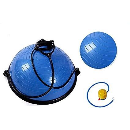amazon com z ztdm yoga half balance trainer ball fitness strengthz ztdm yoga half balance trainer ball fitness strength exercise balance ball with resistance bands \u0026