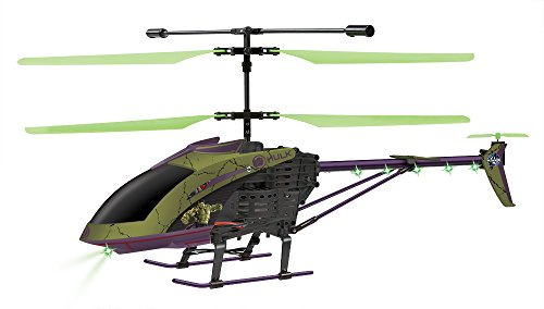 Marvel Licensed Avengers Age of Ultron Hulk 3.5CH RC Helicopter, Green/Black, 25.5 x 4 x 9.75