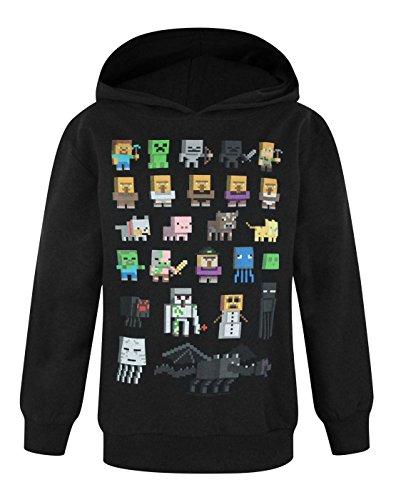Official Minecraft Sprites Boy's Hoodie (8-9 Years) (Minecraft Kids Hoodie)