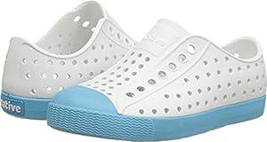 Native Kids Jefferson Water Proof Shoes, Shell White/Surfer Blue, 12 Medium US Little Kid