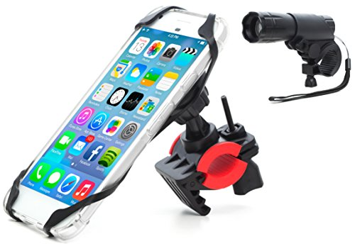 Bike Mount, Bike light combo Universal Cell Phone Bicycle Rack Handlebar & Motorcycle Holder Cradle Magnetic Bike Phone Holder for iPhone, Samsung Galaxy (Bicycle Racks Motorcycles)