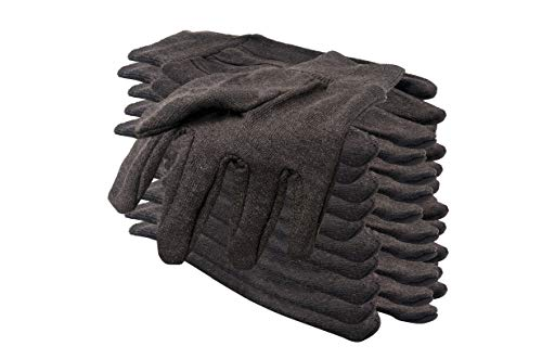 (12 Pack Brown Jersey Gloves for Men 10