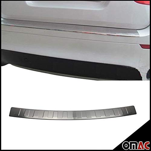 BMW X3 F25 CHROME REAR BUMPER SILL COVER PROTECTOR SCUFF PLATE TRIM BRUSHED STAINLESS STEEL