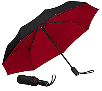 Repel Windproof Travel Umbrella with Teflon Coating (Multiple Colors Available) - Black/Red - One-Size