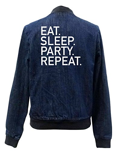 Certified Sleep Girls Eat Freak Repeat Jeans Bomber Party Chaqueta qH0wRT
