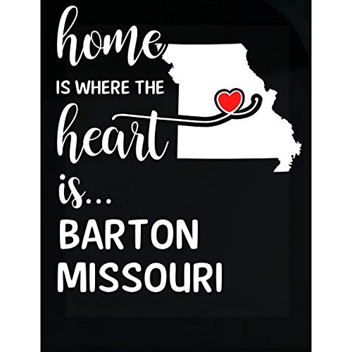 - Inked Creatively Barton County Missouri is Where My Heart is Gift - Sticker