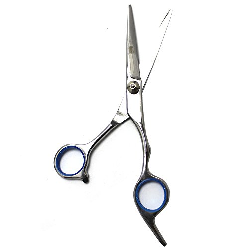 EYX Formula Stainless steel Hair Cutting Scsisor for Professional Hairdresser;Hair Shears for Hair Trimmer At Home (Blue Regular Scissors)