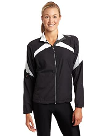 Saucony Women's Ethereal Jacket (Black/White, Large)