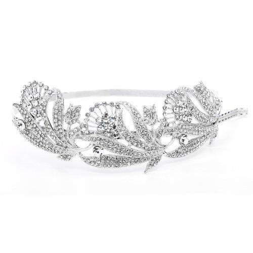 Breathtaking Art Nouveau Pave Crystal Wedding Bridal Headband Tiara
