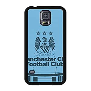 Modern Creative Man City Manchester City FC Logo Samsung Galaxy S5 I9600 Mobile Phone Cover Case EPL Football Club Series Official Manchester City Football Club Logo Phone Case Cover MCFC Logo