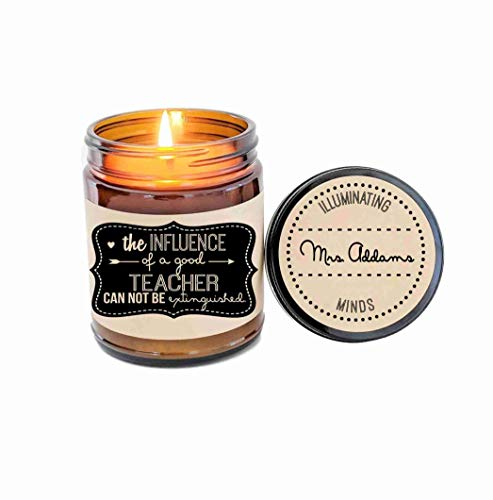 (Teacher Appreciation Gift Candle Personalized Candle Soy Candle Teacher Gift School Gift Scented Candle Jar Candle Custom Candle)