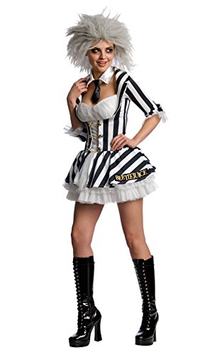 Secret Wishes Women's Beetlejuice Costume, Black/White, X-Small -