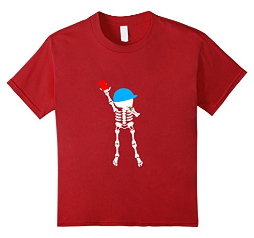 Girl Soccer Referee Costume (Kids soccer skeleton halloween shirt referees 10 Cranberry)