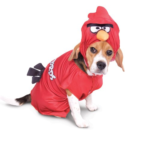 Paper Magic Group PM6748344-S Red Angry Bird Pet Costume SMALL]()