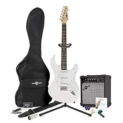 Guitarra Eléctrica LA + Pack Completo - Blanco