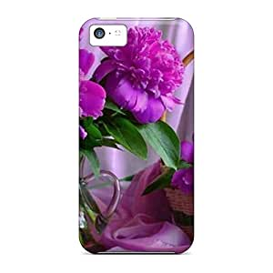 purple Peonies High Quality phone skins Forever Collectibles Shock-dirt Iphone5c iphone 5c