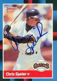 - Chris Speier autographed Baseball Card (San Francisco Giants) 1988 Donruss #239 - Autographed Baseball Cards