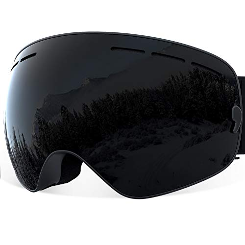 Oversize Ski Boots - YAKAON Y1 Ski Snowboard Snow Goggles with UV Protection Anti-Fog Spherical OTG Anti-Slip Strap for Men Women