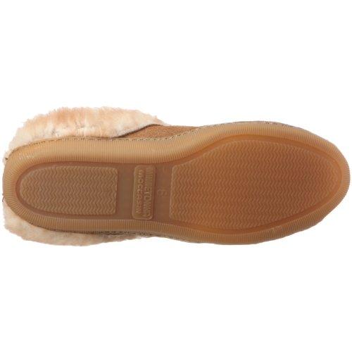 Minnetonka 3461 Sheepskin Mule, Damen Hausschuhe Beige (Golden Tan)