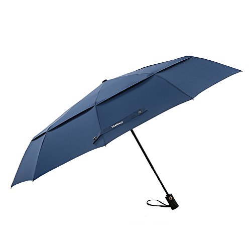 TOMSHOO 50 Inch Large Windproof Golf Umbrella Auto Open Close Compact Double Canopy Folding Travel Portable Umbrella with 10 Ribs