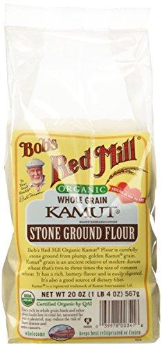 Kamut Flour, Organic, Bob's Red Mills, 20 oz (Pack of 4)