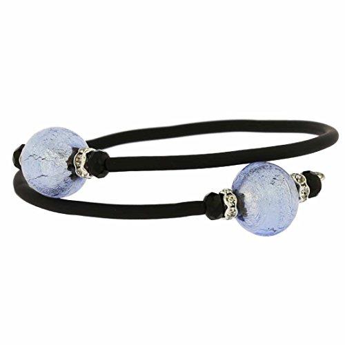- GlassOfVenice Murano Glass Venetian Glamour Bracelet - Silver Ice