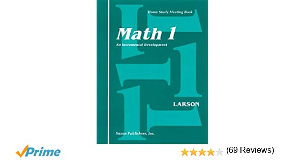 Saxon Math 1 Homeschool: Complete Kit 1st Edition: SAXON ...