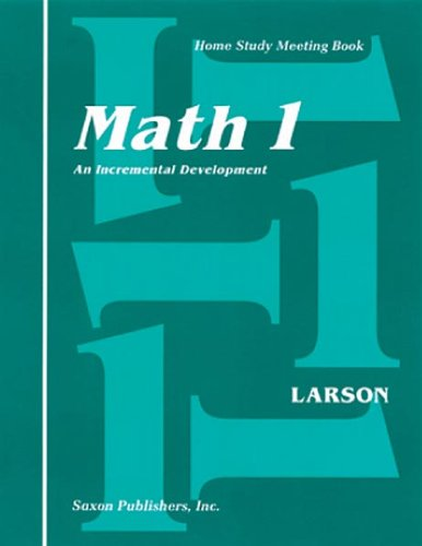 Saxon Math 1 Homeschool: Complete Kit 1st Edition