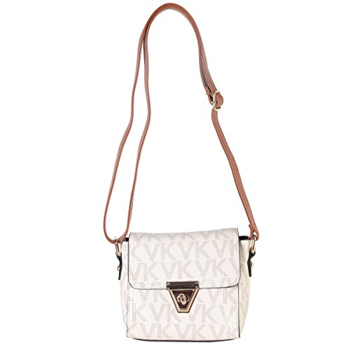 Lightweight Women Crossbody Flap Ladies Purse Faux Bag ivory Leather Pockets Messenger Bag Shoulder Small Clutch Multi x6r6IqA