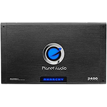 Planet Audio AC2400.4 Anarchy 2400 Watt, 4 Channel, 2/4 Ohm Stable Class A/B, Full Range, Bridgeable, MOSFET Car Amplifier with Remote Subwoofer Control